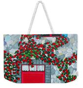 French Stone House And Rose Trellis Weekender Tote Bag