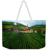 French Village In The Vineyards Weekender Tote Bag