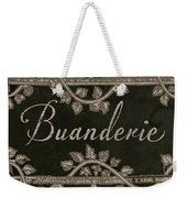 French Vintage Laundry Sign Weekender Tote Bag