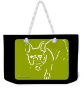Frenchielove Design Chartreuse Weekender Tote Bag