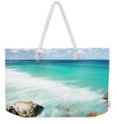 Frenchmans Beach On Stradbroke Island, Queensland. Weekender Tote Bag