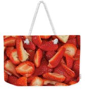 Fresh Cut Strawberries Weekender Tote Bag