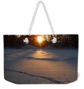 Fresh Deer Tracks At Sunrise Weekender Tote Bag