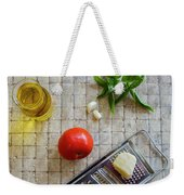 Fresh Italian Cooking Ingredients On Tile Weekender Tote Bag