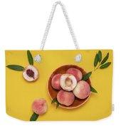 Fresh Juicy Peaches And Green Leaves Weekender Tote Bag