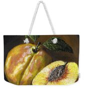 Fresh Peaches Weekender Tote Bag by Adam Zebediah Joseph