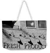 Fresh Produce Signage Black And White Weekender Tote Bag