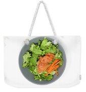 Fresh Seafood Salad With Smoked Salmon Weekender Tote Bag