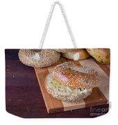 Fresh Sesame Bagel Weekender Tote Bag