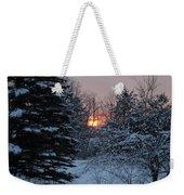 Fresh Snow At Sunrise Weekender Tote Bag