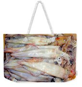 Fresh Squid On A Market Stall Weekender Tote Bag