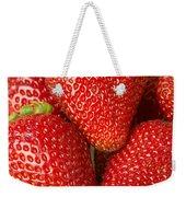 Fresh Strawberries Weekender Tote Bag