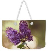 Fresh Violet Lilac Flowers Weekender Tote Bag