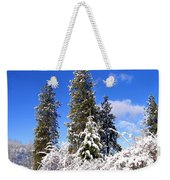 Fresh Winter Solitude Weekender Tote Bag