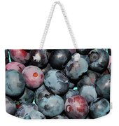 Freshly Picked Blueberries Weekender Tote Bag