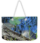 Freshwater Turtle Sunning Weekender Tote Bag