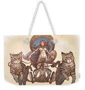 Freya And Her Cat Chariot-nude Version Weekender Tote Bag