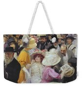 Friday At The French Artists Salon Weekender Tote Bag by Jules Alexandre Grun