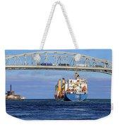 Frieda And Blue Water Bridge Weekender Tote Bag