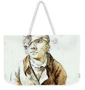 Friedrich Caspar David Self Portrait With Cap And Sighting Eye Shield Weekender Tote Bag