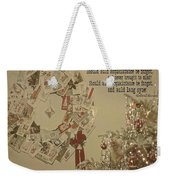 Friends Near And Far Quote Weekender Tote Bag