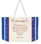 Friendship Poem Weekender Tote Bag