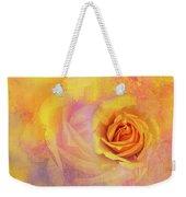 Friendship Rose Textured Weekender Tote Bag
