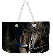 Friesian Horse Portrait Dark Weekender Tote Bag