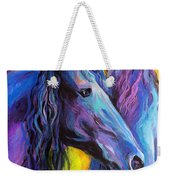 Friesian Horses Painting Weekender Tote Bag