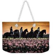 Friesians At Sunset Weekender Tote Bag