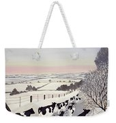Friesians In Winter Weekender Tote Bag