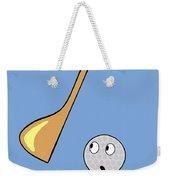 Frightened Golf Ball Weekender Tote Bag
