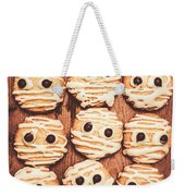Frightened Mummy Baked Biscuits Weekender Tote Bag