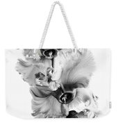Frilly Edged Cyclamen Flowers Monochrome Weekender Tote Bag