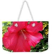 Frilly Red Hibiscus Weekender Tote Bag