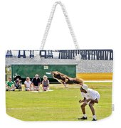 Frisbee Dog Weekender Tote Bag by Brian Wallace
