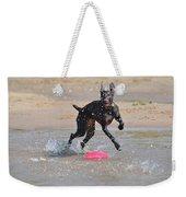 Frisbee On The Beach Weekender Tote Bag