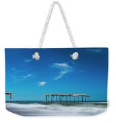 Frisco Fishing Pier In North Carolina Panorama Weekender Tote Bag