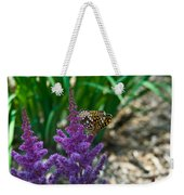 Fritllary Butterfly On Astilbe Weekender Tote Bag