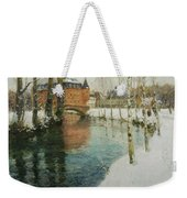 Frits Thaulow    A Chateau In Normandy Weekender Tote Bag