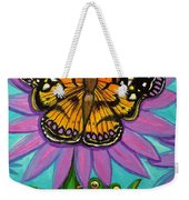 Frog And Butterfly Weekender Tote Bag