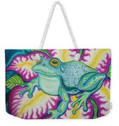 Frog And Flower Weekender Tote Bag