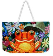 Frog And Flowers Weekender Tote Bag