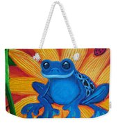 Frog And Lady Bug Weekender Tote Bag