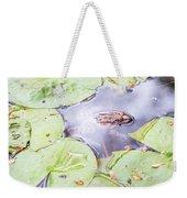 Frog And Lily Pads Weekender Tote Bag