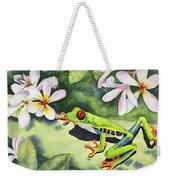 Frog And Plumerias Weekender Tote Bag