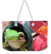 Frog At Selby Weekender Tote Bag