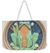 Frog Ceramic Plaque Weekender Tote Bag
