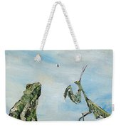 Frog Fly And Mantis Weekender Tote Bag by Fabrizio Cassetta