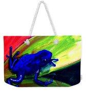 Frog On Leaf Weekender Tote Bag